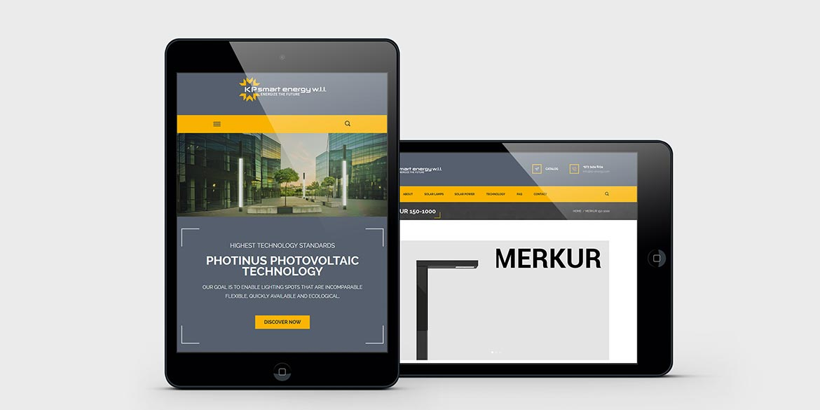 KP Energy Responsive Webseite Webdesign